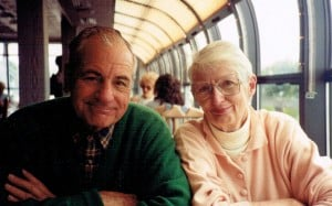 mum and pop in train