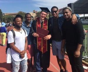 Max with boys Grad